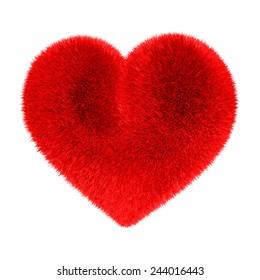 Heart in red fur