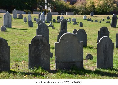 in the heart of Salem Mass. graveyards can be found going back to the first colonists