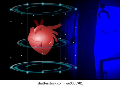 Heart scans,Medical technology concept