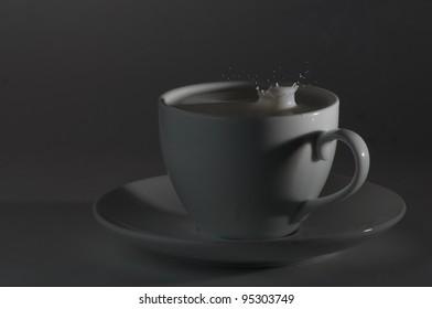 heart shadow with milk splash