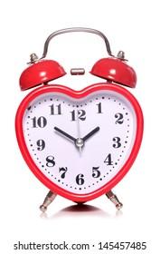 heart shape alarm clock cutout