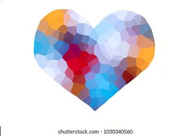 Heart shape colorful illustration