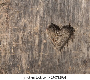 heart shape cut in wood