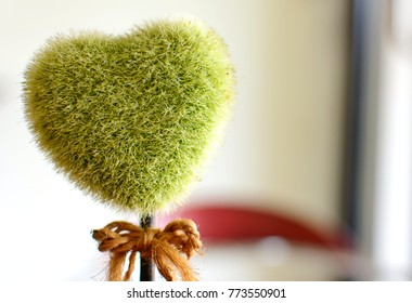 heart shape of fake tree, Valentine 's day concept.