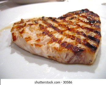 Heart shape fish steak
