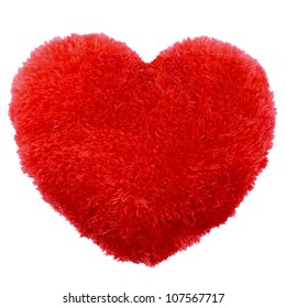 Heart shape Fluffy pillow. Valentine's Day