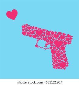 heart shape gun
