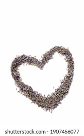 heart shape from lavender seeds