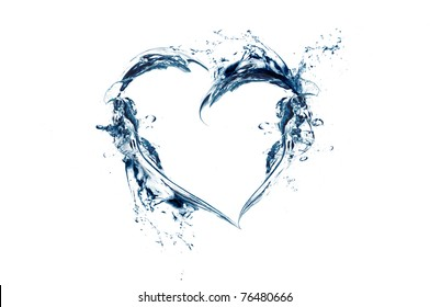 heart shape made of water splash