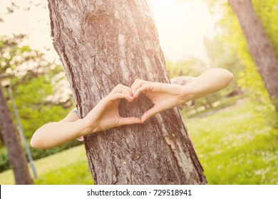 Heart - shape for the nature and environment.