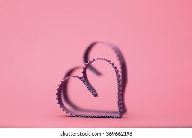heart shape paper red
