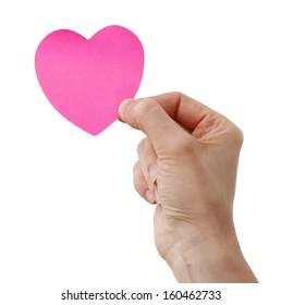 Heart shape Posst It and a Woman