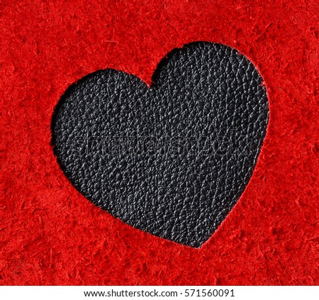 9534dad607a Heart Shape Red Black Color Genuine Stock Photo (Edit Now) 571560091 ...