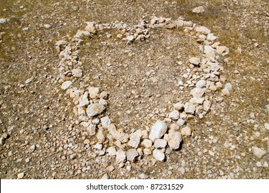 Heart shape symbol of stones like a love metaphor sign