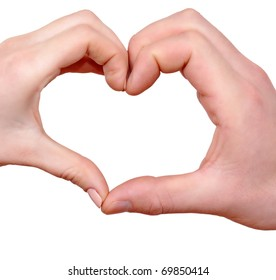 Heart shape with two hands