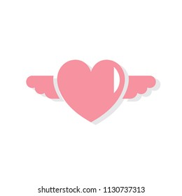 Heart shape Valentines day icon