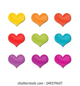 Heart shape white color in square for valentine's day or people in love