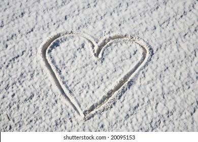 Heart shape White Sands NM Alamogordo US
