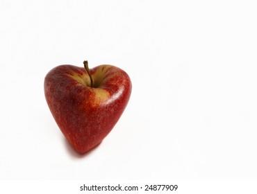 Heart shaped apple