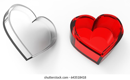 Heart shaped box with 3D render cover