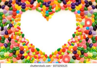 Heart shaped candy border