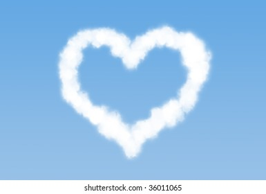 heart shaped cloud