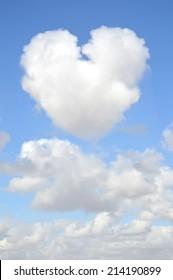 Heart Shaped Cloud Blue Sky