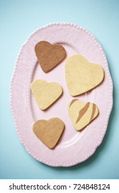 Heart shaped cookie made of clay