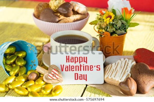 Heart Shaped Cookies Chocolate Candies Big Stock Photo (Edit
