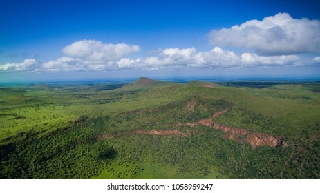 heart shaped crater, marsabit, kenya