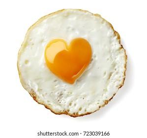 heart shaped fried egg