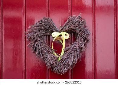 Heart Shaped Front Door Ornament