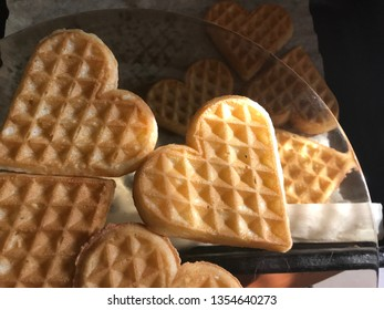 heart shaped ikea wafles
