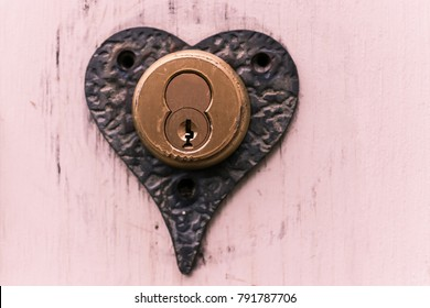 Heart shaped key hole lock
