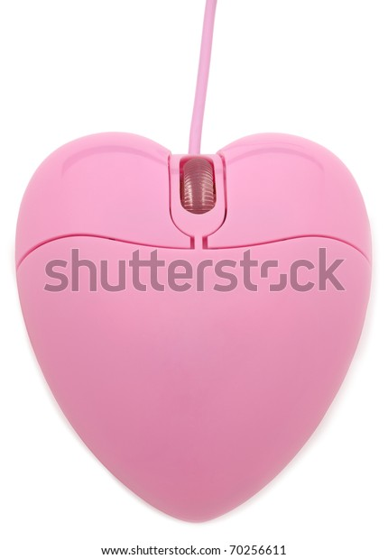 Heart Shaped Mouse Isolated