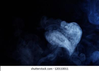 Heart Shaped Plume of Smoke