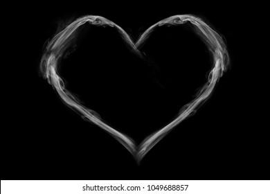 Heart shaped smoke
