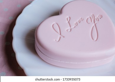 A heart shaped soap with