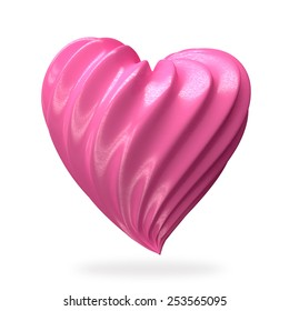 heart shaped strawberry cream