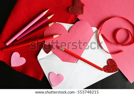 Heart Shaped Valentines Day Card Homemade Stock Photo Edit Now