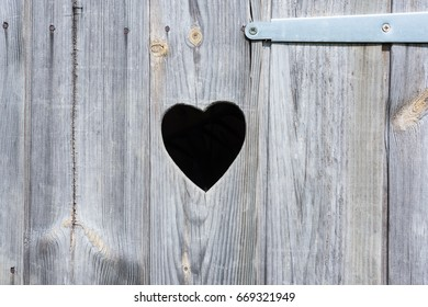 Heart shaped in wood