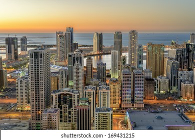 The heart of Sharjah, United Arab Emirates