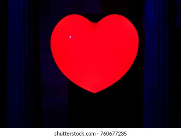 heart shinning in the dark