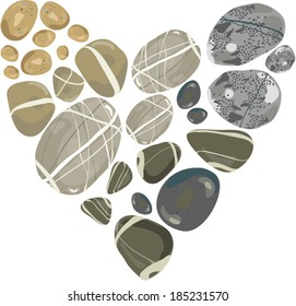 Heart of stone/ concept of love that has set in stone, or just a nice stone love heart!