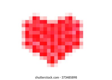 heart symbol for Valentine's day, pixelate style