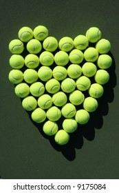 Heart of tennis balls