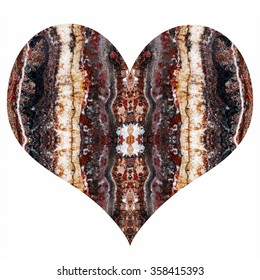 heart, unique texture of natural stone, onyx, marble, a gift for Valentine's Day