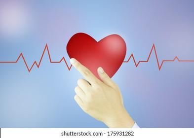 heart valentine with hand