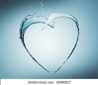 heart of water splash