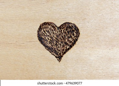 Heart. Woodburning, pyrography. Decor, design, handmade.